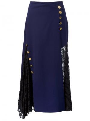 Платье на пуговицах Prabal Gurung. Цвет: синий