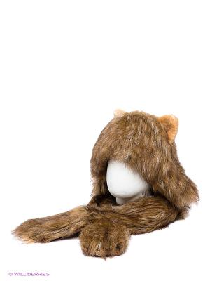 Шапка True Fur. Цвет: бежевый, коричневый