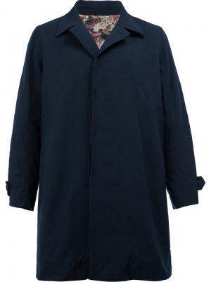 Пальто с потайной застежкой Undercover. Цвет: синий