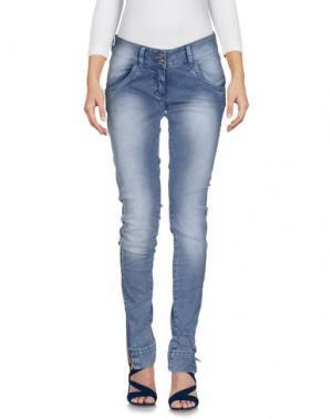 Джинсовые брюки PHARD. Цвет: грифельно-синий