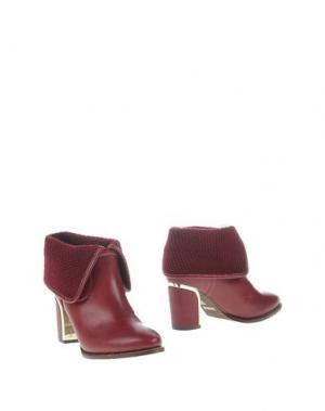 Полусапоги и высокие ботинки GIORGIA & JOHNS. Цвет: красно-коричневый