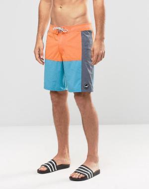 Hollister Синие шорты для плавания. Цвет: темно-синий