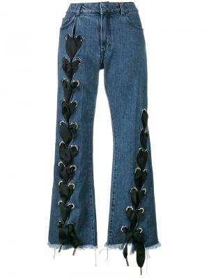Широкие джинсы со шнуровкой Marquesalmeida Marques'almeida. Цвет: синий