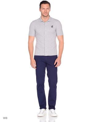Рубашка трикотажная с коротким рукавом Пряник. Цвет: серый