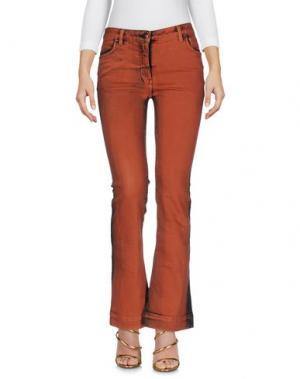 Джинсовые брюки TOM REBL. Цвет: коричневый