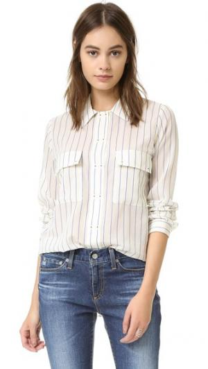 Рубашка в полоску с воротником на пуговицах Intropia. Цвет: деним