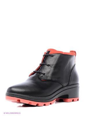 Ботинки MILANA. Цвет: черный, красный