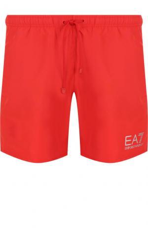 Плавки-шорты с карманами Emporio Armani. Цвет: красный