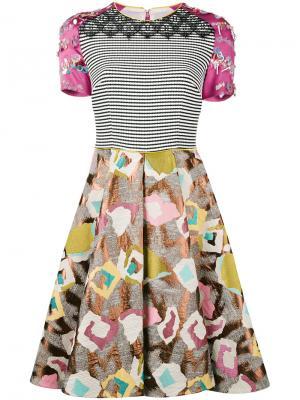 Платье Monifa Talbot Runhof. Цвет: многоцветный