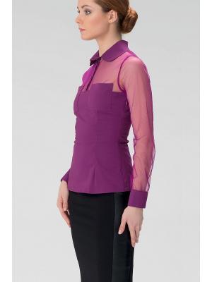 Женская блузка с воротником на пуговицах INDIGIRA. Цвет: фиолетовый