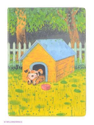 Обложка для автодокументов Мечтающий пес в будке Mitya Veselkov. Цвет: желтый, зеленый