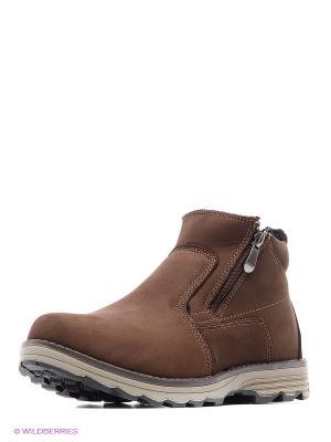 Ботинки Tesoro. Цвет: коричневый