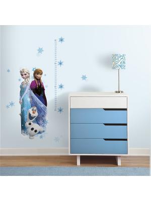 Наклейки для декора Холодное сердце: Эльза, Анна и ROOMMATES. Цвет: белый, черный, синий, зеленый, серый, голубой, красный, оранжевый, желтый