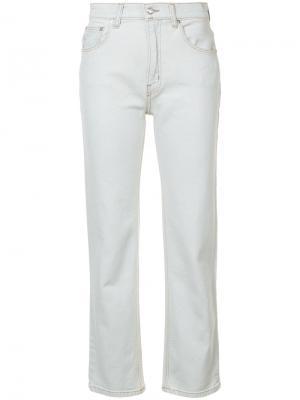 Прямые укороченные джинсы Derek Lam 10 Crosby. Цвет: синий