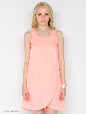 Платье FOX. Цвет: коралловый