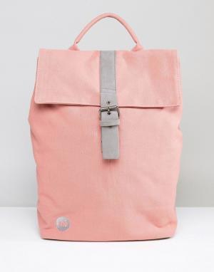 Mi-Pac Розовый парусиновый рюкзак с откидным клапаном. Цвет: розовый
