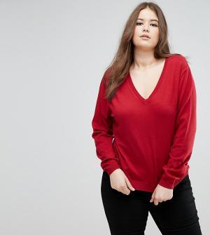 Elvi Красный джемпер. Цвет: красный