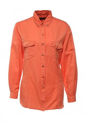 Рубашка Trussardi Jeans. Цвет: коралловый