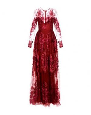 Длинное платье ZUHAIR MURAD. Цвет: красно-коричневый
