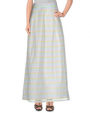 Длинная юбка LA CAMICIA BIANCA. Цвет: белый