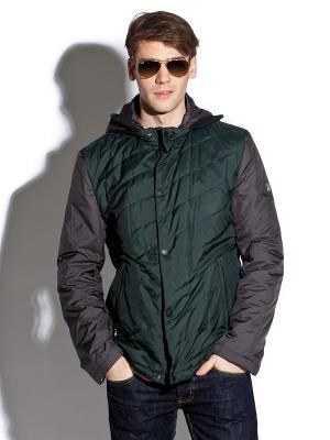 Куртка Clasna. Цвет: темно-зеленый, антрацитовый