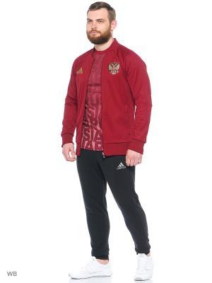 Бомбер Adidas. Цвет: бордовый
