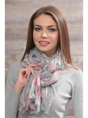 Палантин FOMAS. Цвет: светло-серый, бледно-розовый