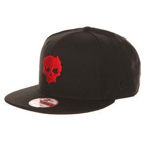 Бейсболка с прямым козырьком  Blood Skull Red/Black Zero. Цвет: черный,красный