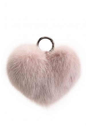 Брелок из меха норки 178390 Flo & Clo. Цвет: розовый
