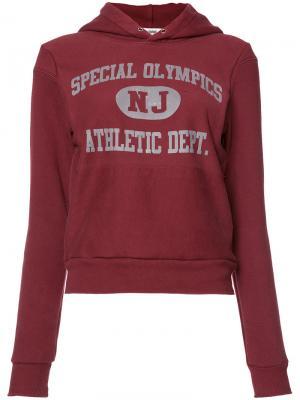 Толстовка Reconstructed Special Olympic с капюшоном Re/Done. Цвет: красный