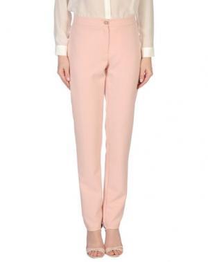 Повседневные брюки JILL MORISCO Milano. Цвет: светло-розовый