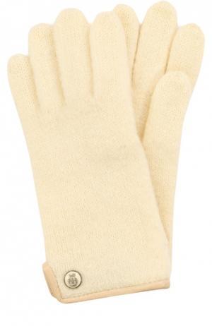 Вязаные шерстяные перчатки Roeckl. Цвет: белый