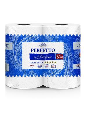 Туалетная бумага Aster Perfetto by Perfetto, 4 рулона., 5-ти слойная, 9 уп/кор. Цвет: белый