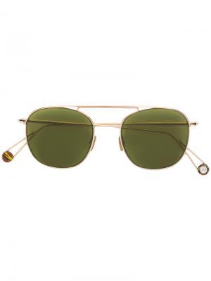 Квадратные солнцезащитные очки с затемненными линзами Ahlem. Цвет: зелёный