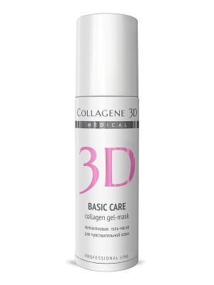 ГЕЛЬ ПРОФ Basic Сare 130 мл Medical Collagene 3D. Цвет: белый, розовый