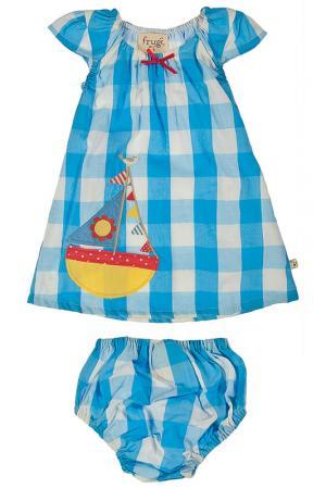 Комплект: платье и трусики Frugi. Цвет: мультицвет
