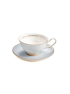 Подарочный чайный набор Английский завтрак на 1 персону Русские подарки. Цвет: белый, золотистый