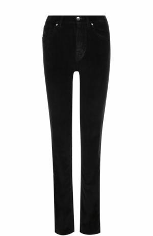 Бархатные джинсы-скинни Jacob Cohen. Цвет: черный
