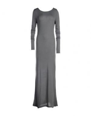 Длинное платье NÖE. Цвет: серый