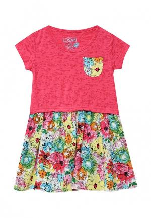 Платье Losan. Цвет: разноцветный