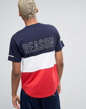 Reason Футболка с принтом логотипа сзади. Цвет: синий