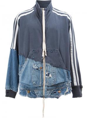 Лоскутная куртка Greg Lauren. Цвет: синий