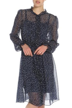 Платье Ketroy. Цвет: темно-синий, горох