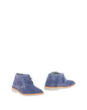 Полусапоги и высокие ботинки LE CROWN. Цвет: грифельно-синий