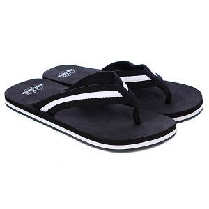 Шлепанцы  Flip Flops Black/White Urban Classics. Цвет: черный