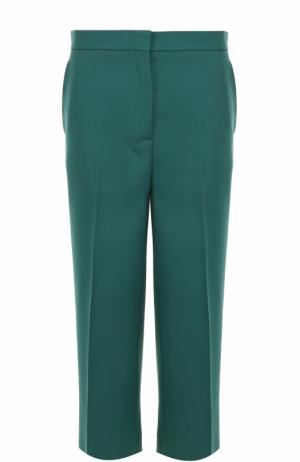 Укороченные брюки со стрелками Rochas. Цвет: зеленый