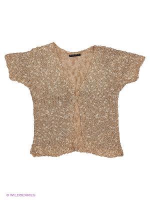 Кардиган Sisley Young. Цвет: бронзовый, кремовый, темно-коричневый