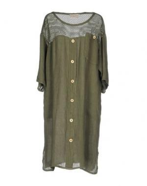 Платье до колена SUPERIOR. Цвет: зеленый-милитари