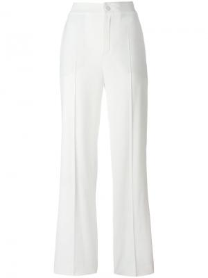 Широкие классические брюки Lanvin. Цвет: белый