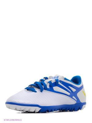 Бутсы Messi 15.3 Tf adidas. Цвет: белый, синий